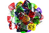Alice アリス AP-H 100枚 カラフル 透明アクリル ギター ピック プレクトラム パック厚さカラー混合