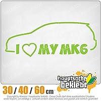 KIWISTAR - I Love my MK6 15色 - ネオン+クロム! ステッカービニールオートバイ