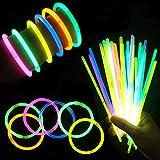 "Glow Sticks 8"" Light-up Non Toxic Waterproof Bracelets"