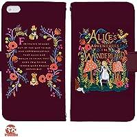 Alice's Adventures in Wonderland 手帳型 Galaxy S8+ SCV35(G004101_04) 専用 アリス pop art センス 個性的 スマホケース