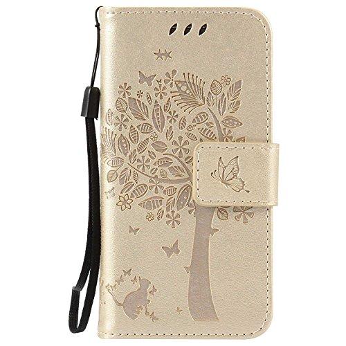 Galaxy S4 Mini ケース CUSKING 手帳型ケース 高品質 PUレザー カードポケット全面保護 フリップ カバー 落下防止 衝撃吸収 財布型 ギャラクシ S4 Mini 対応 - ホワイト