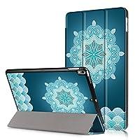 iPad Airケース ipad 5ケース[DUSS]薄型 軽量 カラーパターン 高級PUレザーソフト スマートカバー 三つ折り スタンド スマートキーボード対応 キズ防止 指紋防止自動スリープ/ウェイクアップ機能付き ipad Air/ipad5専用対応 -スノーフレーク