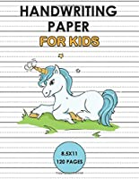 Handwriting Paper for kids: Handwriting Unicorn Notebook for kids 6x9 120 pages, Learn to write alphabets  and improve writing skills with dotted journal for primary, preschool, school, kindergarten, Preschoolers.