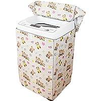 (ボラ-キキ) Bole-kk 洗濯機カバー 全自動式洗濯機 屋外 防水 防塵 日焼け止め 老化防止 外置き マジックテープ ベージュ,