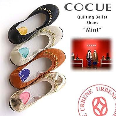 (コキュ) COCUE ミント キルティング ホットフィックス バレエシューズ (27004) レディース 靴 50(25.0cm) キャメル(041)
