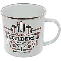 Enamel Mug - Caution Builders at Work