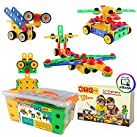 ETI Toys-92 Piece Educational Construction Engineering Building Blocks Set for 3, 4 and 5+ Year Old Boys & Girls. Pure