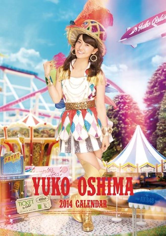 クランプシロクマキャップ(壁掛)AKB48 大島優子 カレンダー 2014年