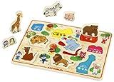 アンパンマン 木のかたちあわせパズル どうぶつパズル