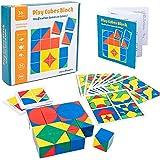 Ms.0 ピクシー キューブ ブロック 図柄あわせ パズル スタッキング モンテソーリ教具 知育玩具 積み木