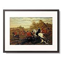 Herberte, E.B,1810-1873 「Jagd zu Pferde.」 額装アート作品