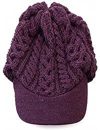 (ハイランド2000) HIGHLAND2000 ニット帽 ツバ付き ニットキャップ ケーブル編み 秋冬