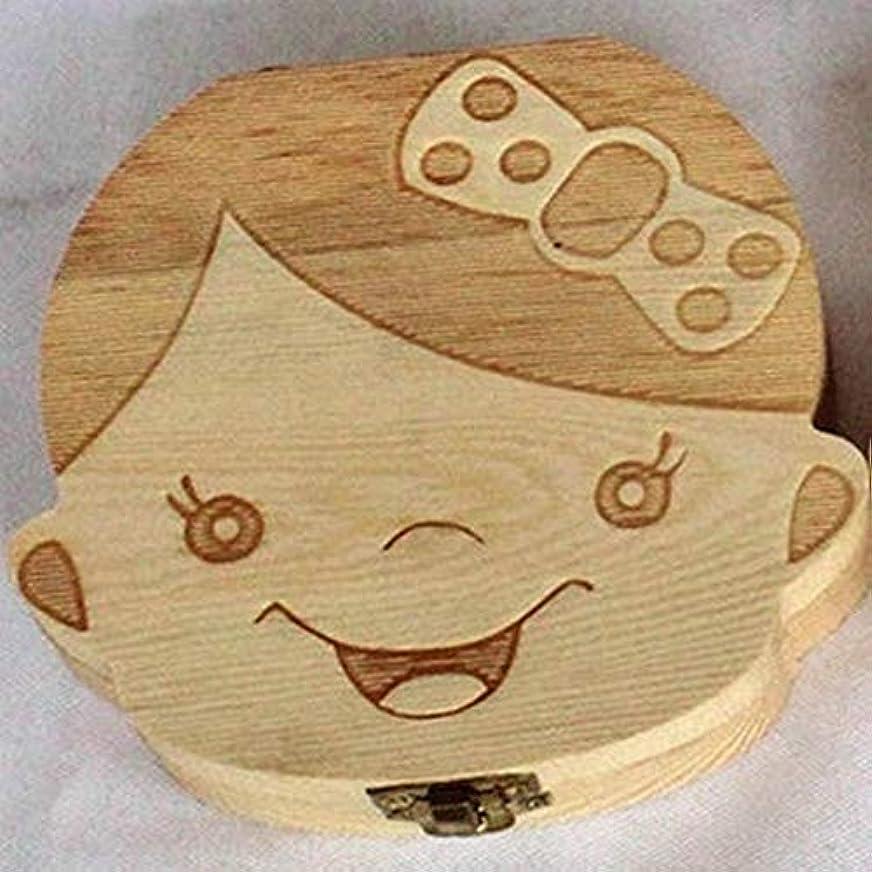 風味批判的ピンクEVA-JP 乳歯ケース 木製 乳歯ボックス 乳歯箱 乳歯入れ 可愛い 記念な乳歯 最も意味あるプレゼント 英語 女の子 男の子(ガールズ)