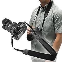 INSTEN滑り止め重量Reducingネオプレンカメラネックストラップ、3.5Ft / 1M、ブラック