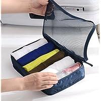 WTL かご?バスケット 旅行バッグの荷物の荷物の仕上げのパッケージの包帯のバッグの下着のパッケージ (色 : ライトブルー)