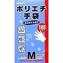 ポリエチ手袋 No.826 Mサイズ