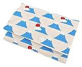 ポケットティッシュケース 白×富士山 ポケットティッシュ ケース ポケティケース ポケットティッシュカバー 手作り和柄