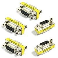 15HD/DB/15Vga/svga KVM Gender Changerアダプタメスtoメス(f-f)、5パック