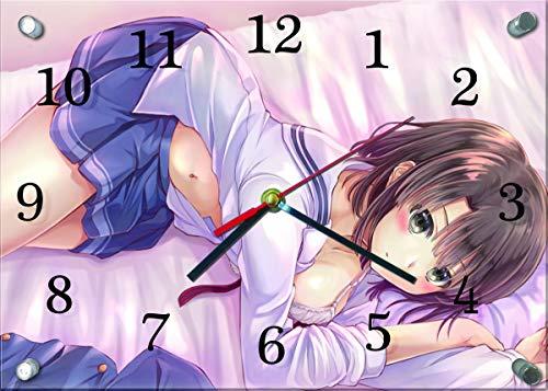 冴えない彼女の育てかた★ガラス製 掛時計 横型25×35cm...