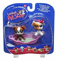 Littlest Pet Shop Pet Pairs Figures 2 Boxers with Basket by Hasbro