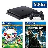 PlayStation 4 + Detroit: Become Human + New みんなのGOLF セット (ジェット・ブラック) (CUH-2200AB01)【特典】オリジナルカスタムテーマ(配信)