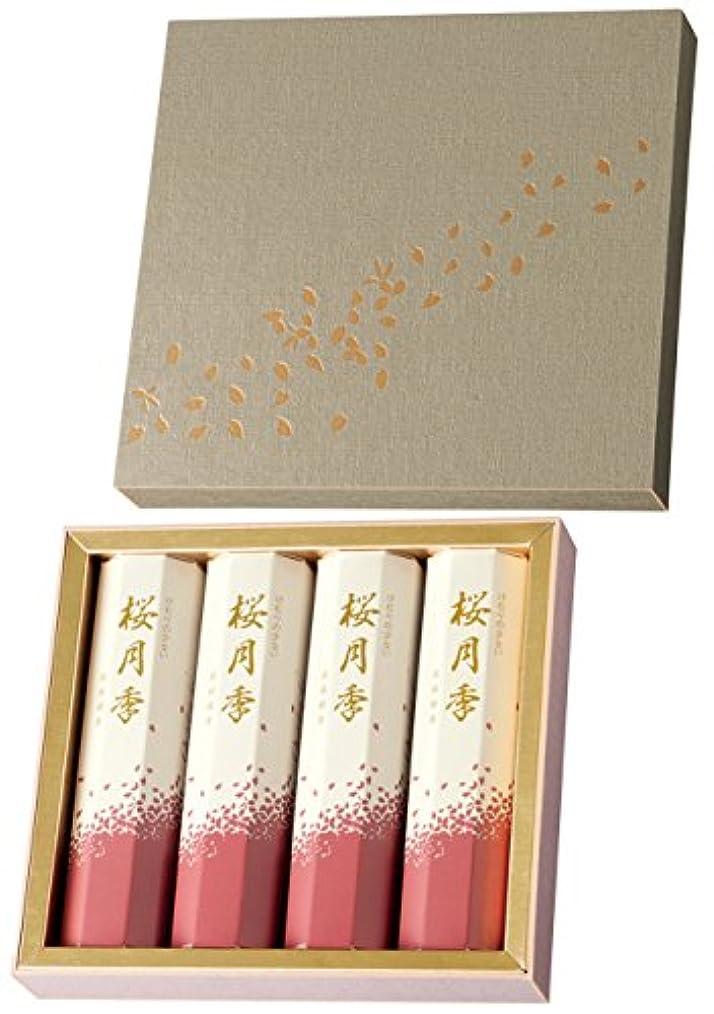 組み合わせコウモリコンデンサー玉初堂のお線香 けむりの少ない 桜月季 短寸4箱入 化粧紙箱 #6640