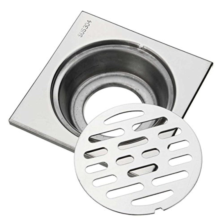AMIGOYO ステンレス鋼 正方形 床ドレン 排水フィルター キッチン?バスルーム?シャワー 排水口カバー