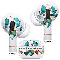 igsticker AirPods Pro 専用 デザインスキンシール airpodspro エアポッド プロ apple アップル イヤホン カバー デコレーション アクセサリー デコシール 005286 ラブリー ハート 鳥 バレンタイン