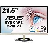 ASUS フレームレス モニター 21.5インチ IPS 薄さ7mmのウルトラスリム ブルーライト軽減 フリッカーフリー HDMI,D-sub スピーカー VZ229H
