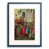 シモーネ・マルティーニ 「Die Kreuztragung. Um 1336/1342(?).」 額装アート作品