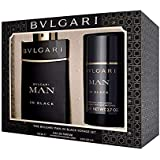 Bvlgari (BVLLO) Man in Black Eau de Perfume with Deodorant Stick Gift Set for Men, Pack of 2