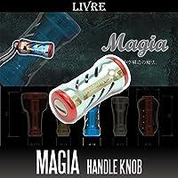 【LIVRE/リブレ】 Magia(マージア) チタニウムハンドルノブ 【シャンパン/レッド】 【1個入り】 (シマノ・ダイワ共通対応)