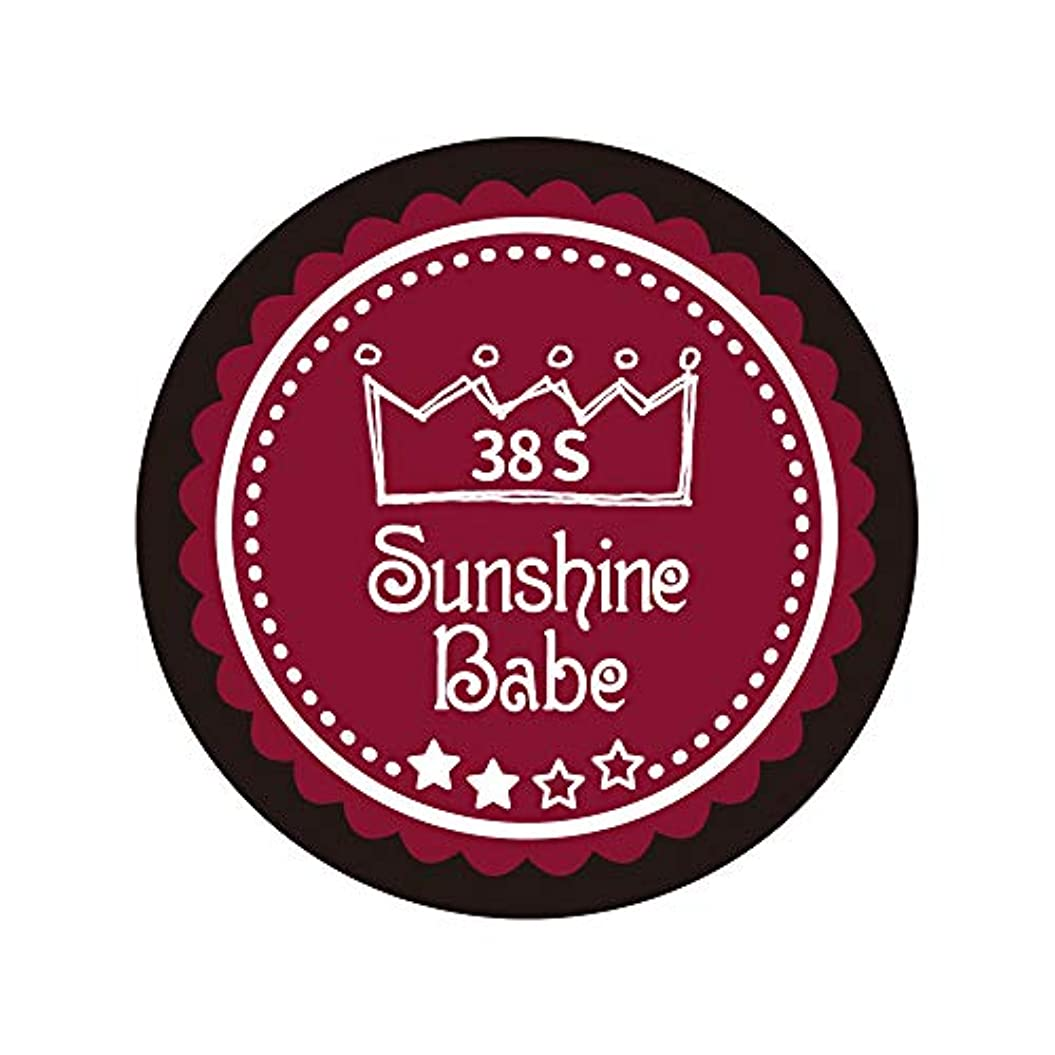 飲料称賛多年生Sunshine Babe カラージェル 38S レッドペア 4g UV/LED対応