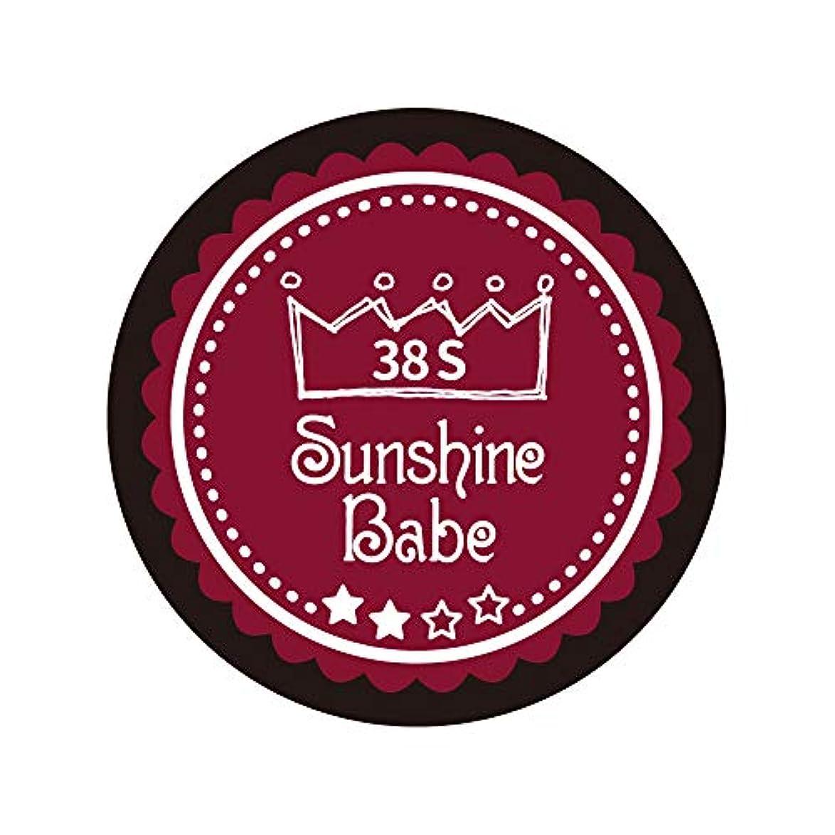 ゲートテンポオーバーフローSunshine Babe カラージェル 38S レッドペア 2.7g UV/LED対応