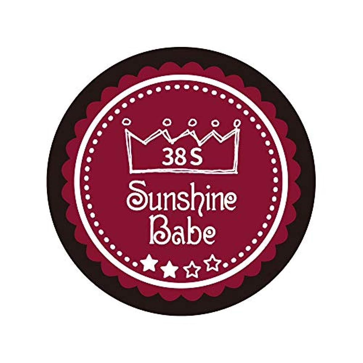 アラームダンス継続中Sunshine Babe カラージェル 38S レッドペア 4g UV/LED対応