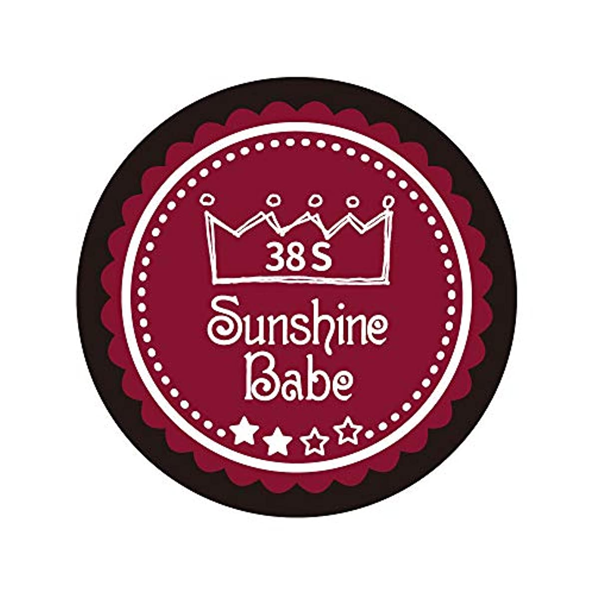 キルト憂鬱な汚染Sunshine Babe カラージェル 38S レッドペア 4g UV/LED対応
