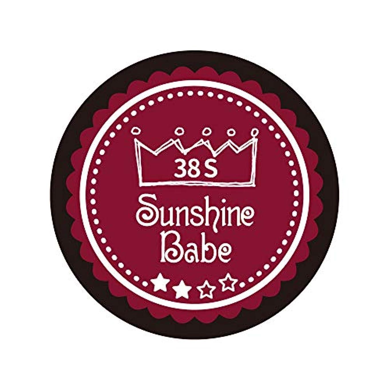 お祝い安西あごSunshine Babe カラージェル 38S レッドペア 4g UV/LED対応