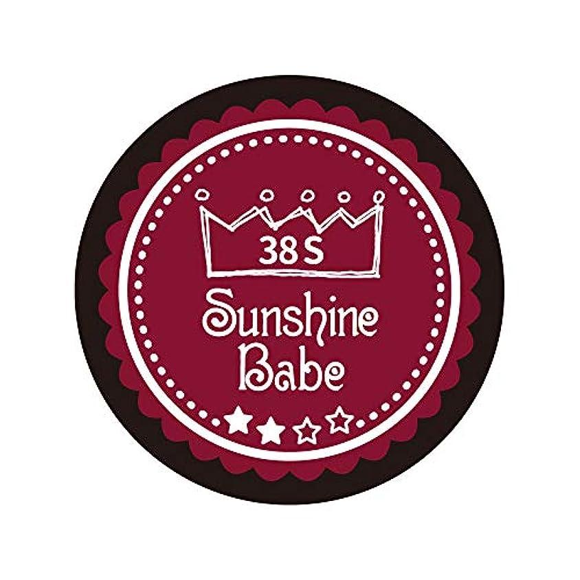 奇跡構造的台風Sunshine Babe カラージェル 38S レッドペア 2.7g UV/LED対応