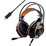ゲーミングヘッドセットPS4イヤーホン 密閉型 ヘッドホン ステレオヘッドフォン コネクタ360度調整可能PUレザータイプ 高集音性マイク付き 騒音抑制 USB接続 ゲーム用ヘッドセット LEDライト付き ヘッドアーム 伸縮可能 多機種対応 軽量Dolby 7.1chサラウンドサウンド 立体音臨場感 音域広い 男女兼用 室内用オーディオ用 オーバーイヤーマイク付PU レザーイヤーパッド 通気性 ヘッドアーム 伸縮可能 最高音質 耐摩素材 モバイルデバイス プレイステーション4 Xbox One vita PCタブレットパソコン&ノートパソコン Android などに対応 DVD 映画 音楽 FPS MMO COD スカイプ Skype可能 装着性高い 限時割引