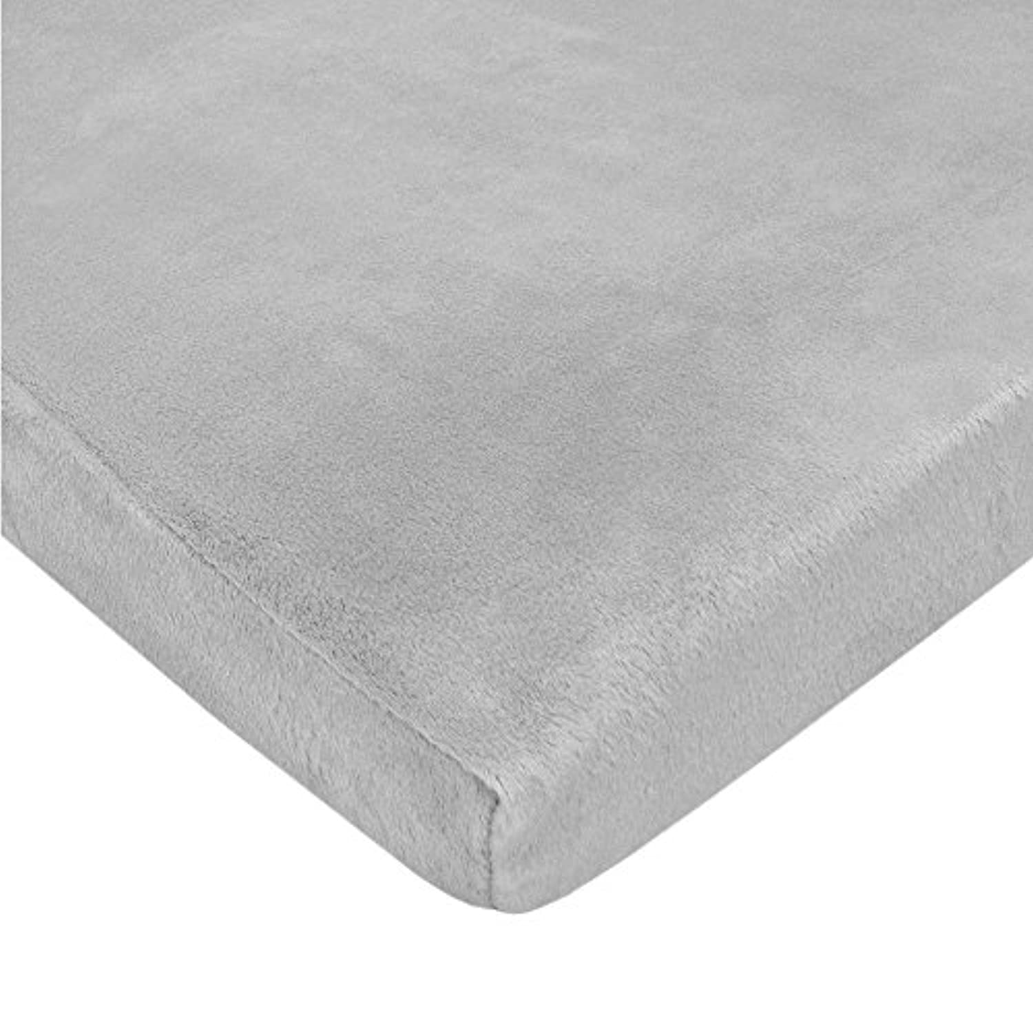 TL Care Heavenly Soft Chenille Fitted Pack 'n Play Playard Sheet, Gray by TL Care