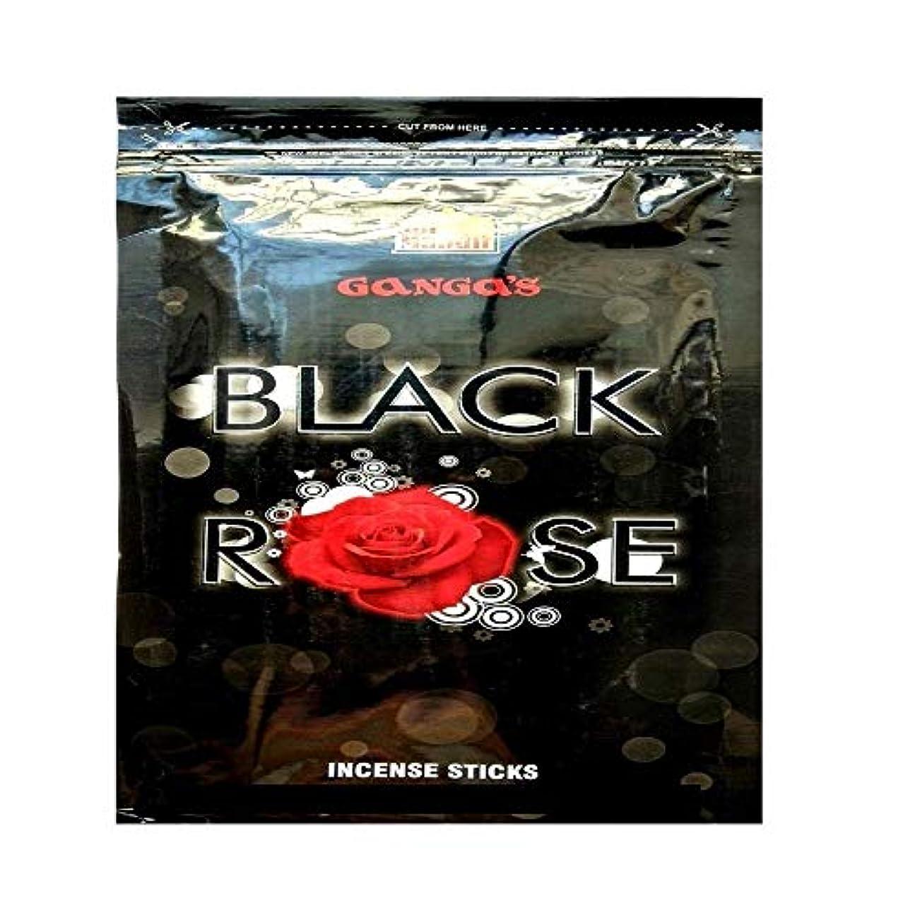側滝蒸留Gift Of Forest Gangas Black Rose Agarbatti (330 Sticks_Black) Pack of 3