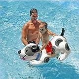 スイミングプールフローティング行、インフレータブルマウント水のおもちゃのボート、夏のプールパーティー子供の楽しいおもちゃ、108×71センチ