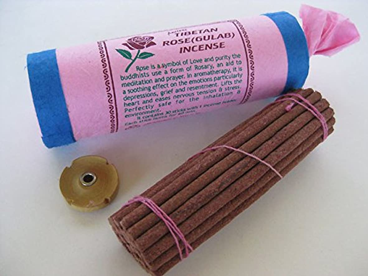 屋内で前述の場合古代チベットローズ( Gulab ) Incense