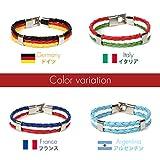 メンズ ブレスレット 国旗色 ファッション アクセサリー ジュエリー レザー バングル (E-01 4点セット)