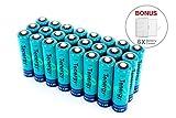 24個のTenergy 2600mAh高容量ニッケル水素充電式単三電池
