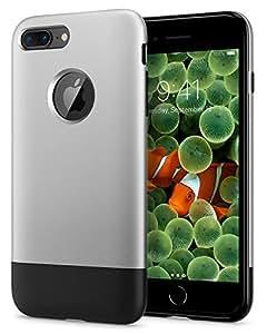 【Spigen】 「10周年限定版」 スマホケース iPhone8 Plus ケース 初代 オリジナル iPhone 完全再現 Classic One 055CS24412 (アルミニウム・グレー)