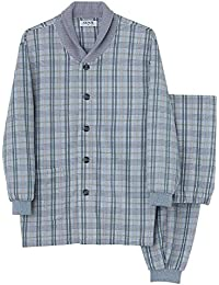 [グンゼ]メンズパジャマ (襟元あたたか) 長袖長パンツ ソフトキルト/針抜パイル起毛 メンズ