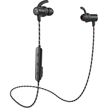 ワイヤレスイヤホン GEVO bluetooth5.0 スポーツ ランニング仕様 ipx6防水 ナイロン線 高音質 重低音 HIFI 左右一体型 カナル型 高遮音性 BluetoothイヤホンCVC6.0ノイズキャンセリング MEMSマイク クリア通話 メタル おすすめ ブルートゥースイヤホンiPhoneなど多機種対応 gv18 plus(ブラック)