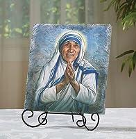 """SaintアビラのカルカッタMother Teresa Plaque、樹脂、8"""" W x 10"""" h- yc569"""