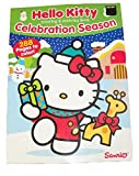 Hello Kitty 288 Page Colouring & Activity Book Christmas Edition (Celebration Season - Kitty with Presents on Blue; 2014)